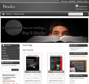 Magento Book Store Theme