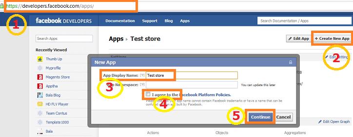 Magento Facebook Configuration