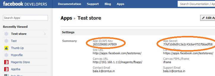 Facebook Test Store