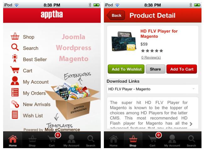 Apptha iPhone App