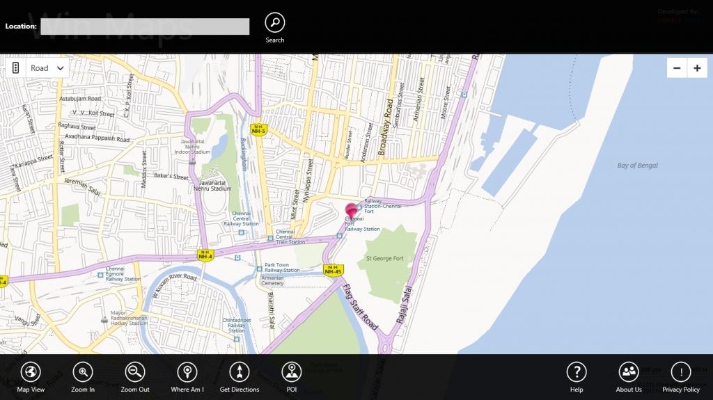 Windows 8 Map App  where am i